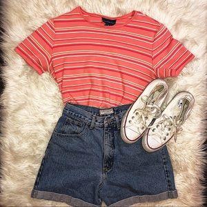 Vintage | Pink Striped | T-shirt